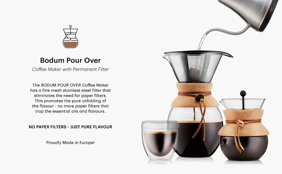 Bodum Coffee Travel mug Chambord Cafetiere French press Tea Barosilicate glass Pour Over Coffee Pot