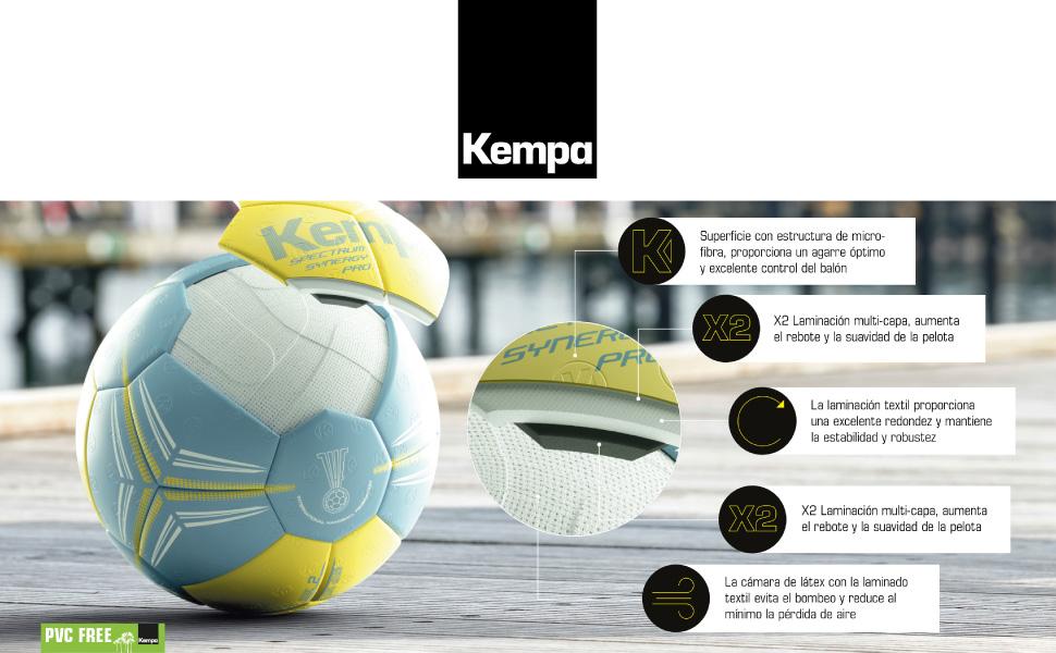 Kempa Gecko Balón de Juego y Entrenamiento, Unisex, Verde (Flash ...
