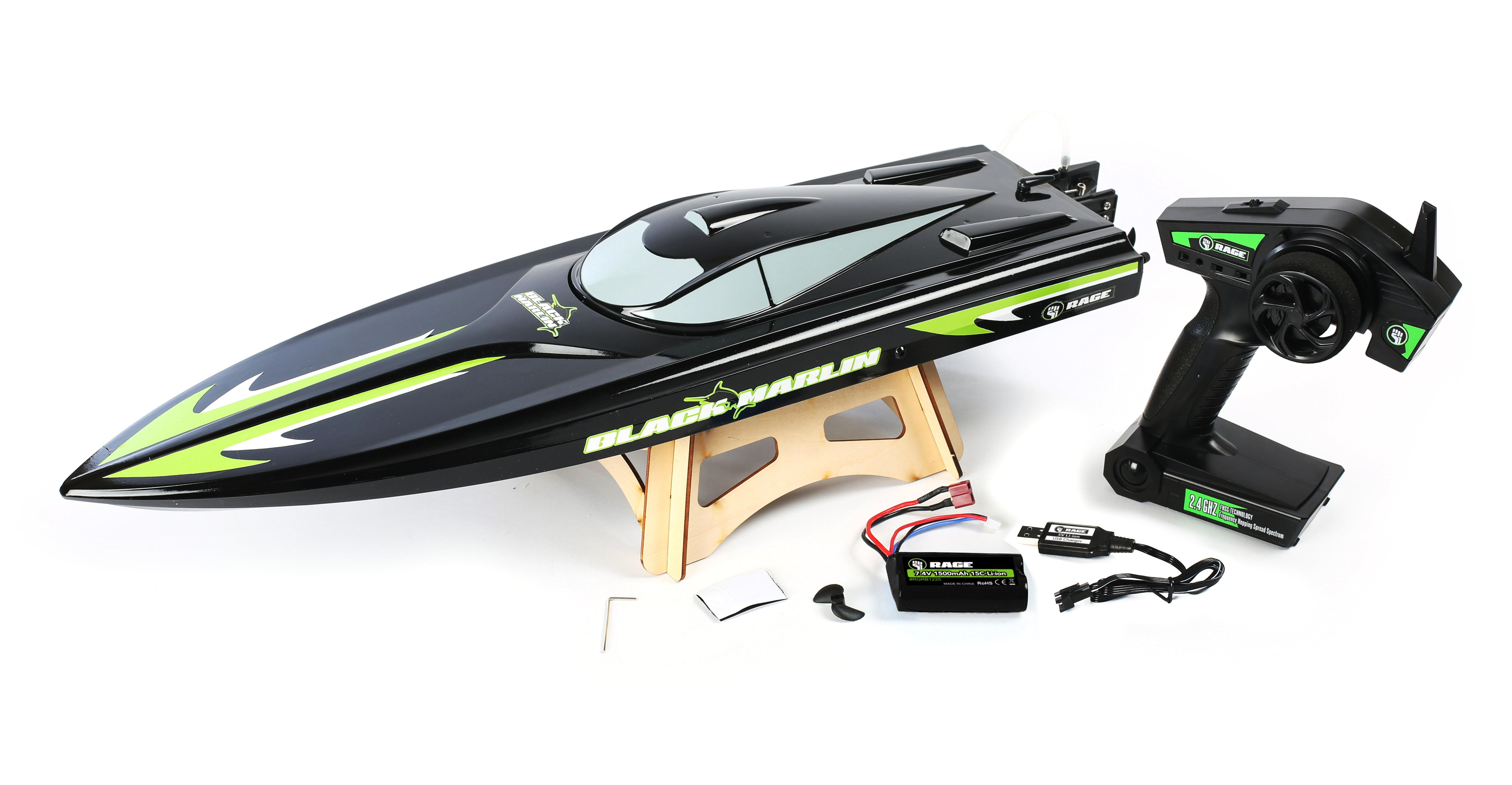 Rage Rc B1200 Black Marlin Ready To Float Radio Control Tips On Powering Servos Receivers Radios And Vehicles With Lipos From The Manufacturer
