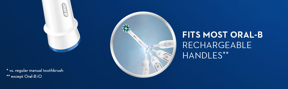 Oral-B CrossAction refills fit most Oral-B rechargeable handles