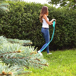 Relaxdays, Verde Manguera de riego para jardín, Lista para Usar, Aspersión, 8, 2 Metros, 1 Unidad: Amazon.es: Jardín