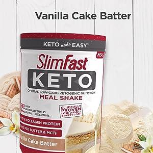 keto vanilla cake batter slimfast