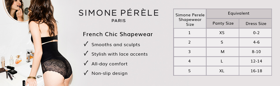 Simone Perele, Simone Perele shapewear, shapewear panty for women, Top Model, 16R774, High waist