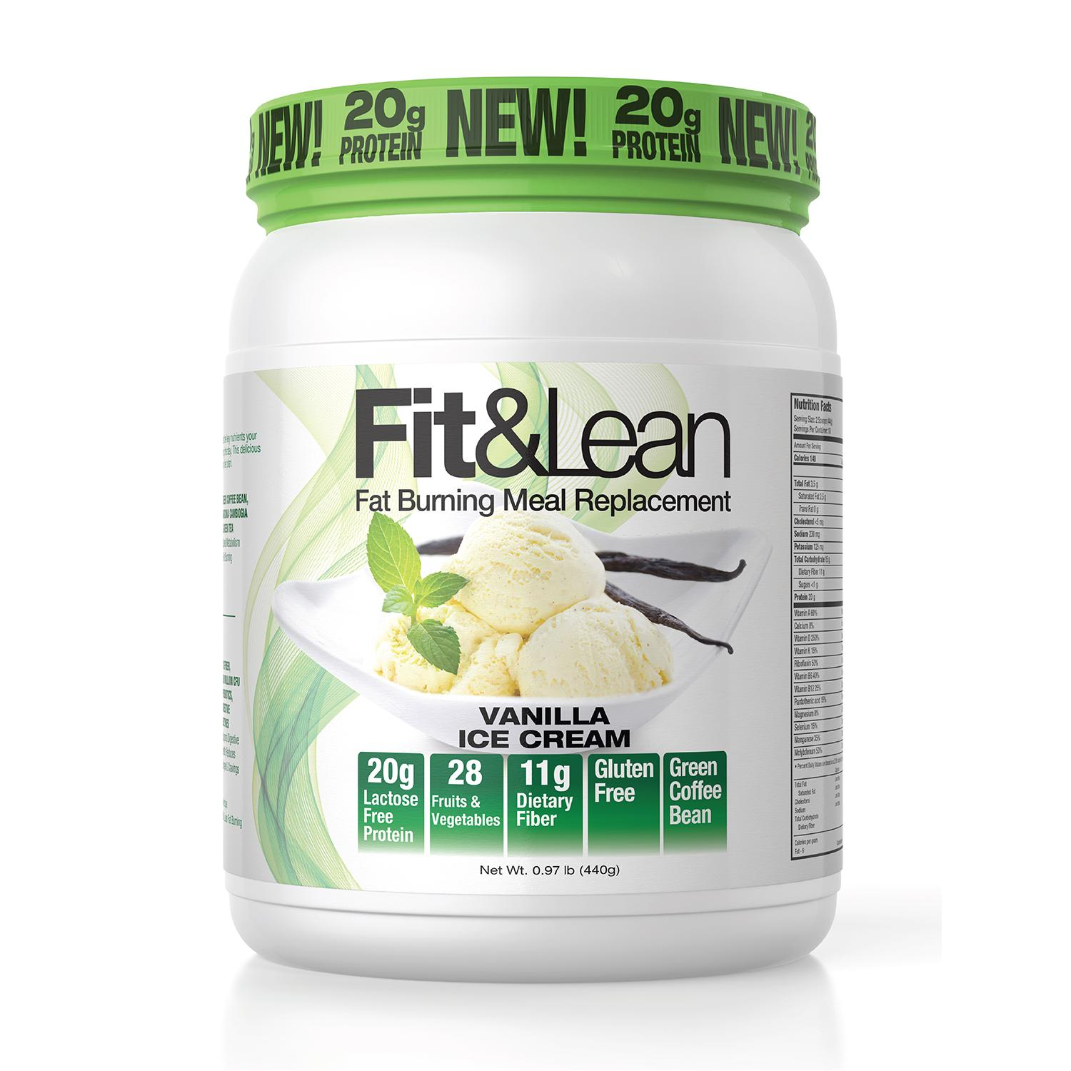 fit lean fat burning meal replacement vanilla 1