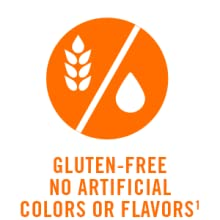 Gluten free. No artificial colors or flavors.