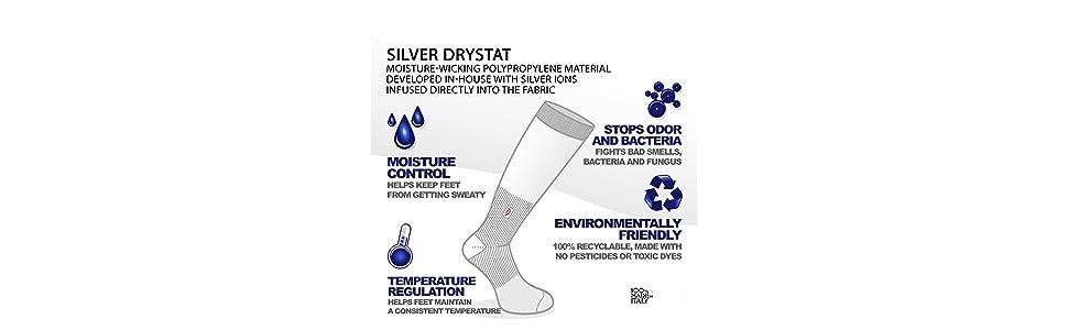 Graduated Compression DryStat Odor Resistant Socks Worksox Heavy Duty