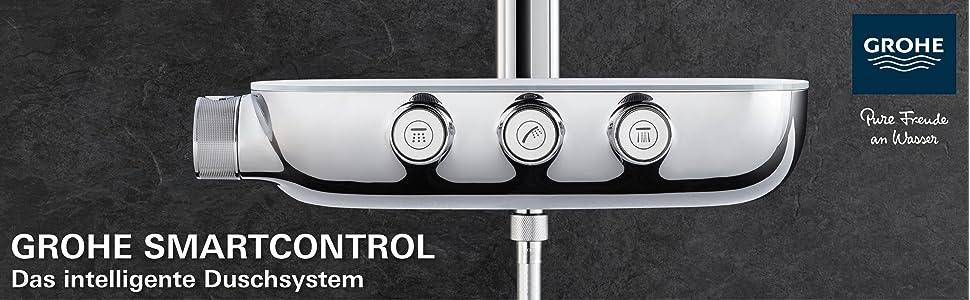 grohe rainshower smartcontrol 360 duo brausen und duschsystem duschsystem mit. Black Bedroom Furniture Sets. Home Design Ideas