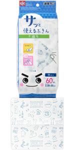 激落ちくん さっと使える ふきん 不織布 (大容量)乾きが早くて衛生的 60枚入