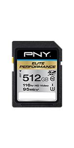 512GB Elite Performance Class 10 U3 SDXC Flash Memory Card