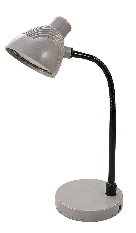 V-LIGHT Charging Outlet CFL Desk L& with 2 Grounded 2.5A Power Outlets  sc 1 st  Amazon.com & Amazon.com: V-LIGHT Charging Outlet CFL Desk Lamp with 2 Grounded ... azcodes.com
