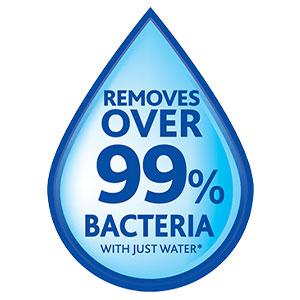 Élimine 99 % des bactéries