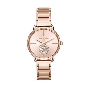 73894ad8f Amazon.com: Michael Kors Roman Numeral Watch MK5503 Rose Gold ...
