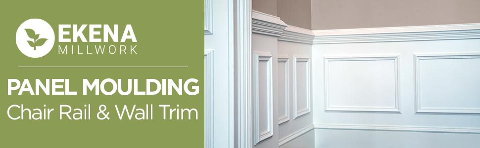 panel moulding, chair rail, wall trim, casing, wainscot, wainscoting, urethane trim
