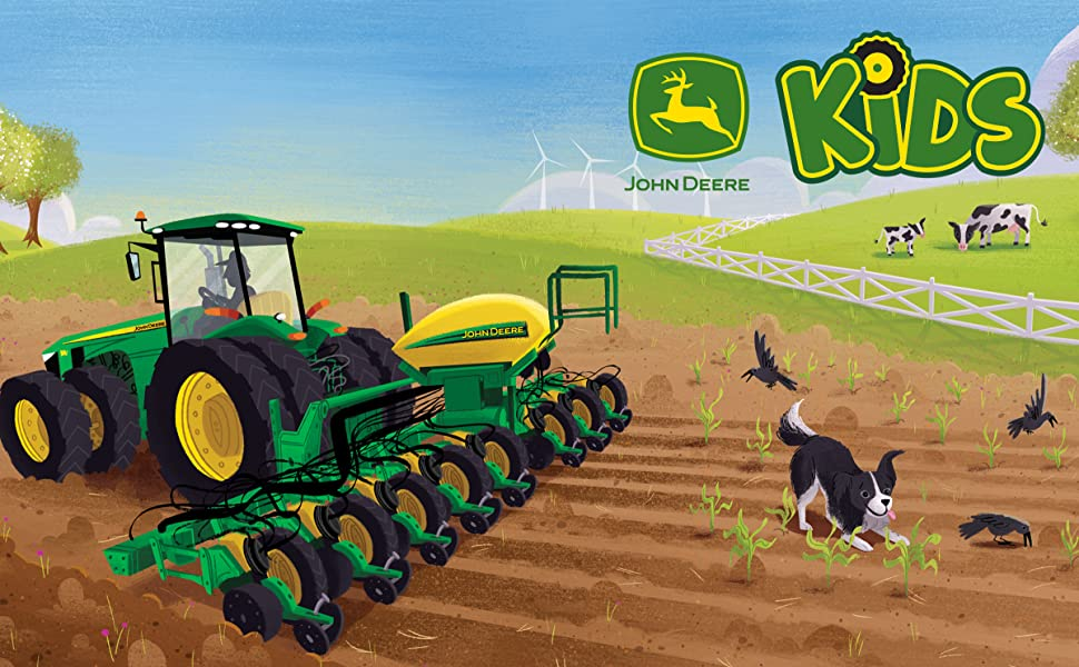 John Deere tractor kids book childrens books farm plant grow board