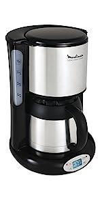 Moulinex FG362810 Cafeti/ère Filtre Principio Programmable 10-15 Tasses Verseuse Verre Anti-Goutte /& MOULINEX Subito inox Grille pain 1 longue fente toaster Thermostat 7 positions D/écongelation