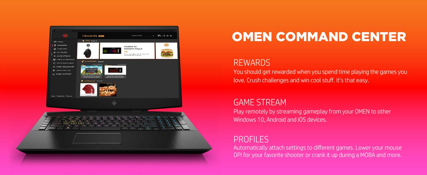 customize Dual Force system vitals metrics dashboard temperature GPU CPU OMEN command center