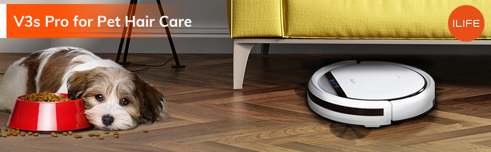 Robot vacuum cleaner specialized in picking up pet hair