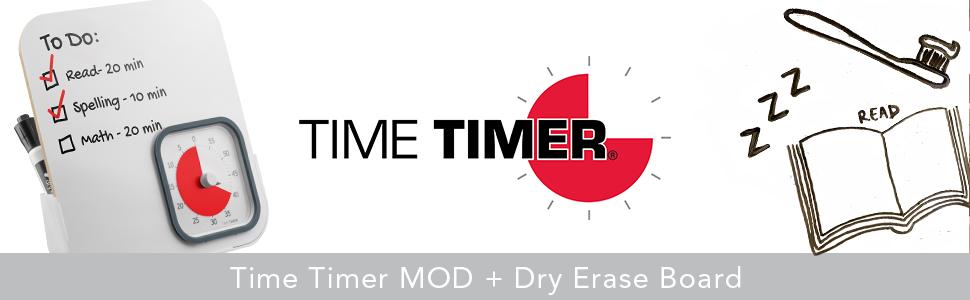 TIME TIMER MOD AND DRY ERASE BOARD Mod Combo TTM9DEBW