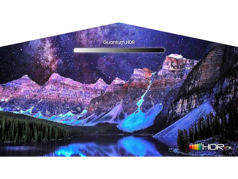 Mountain range night shot showing Quantum HDR