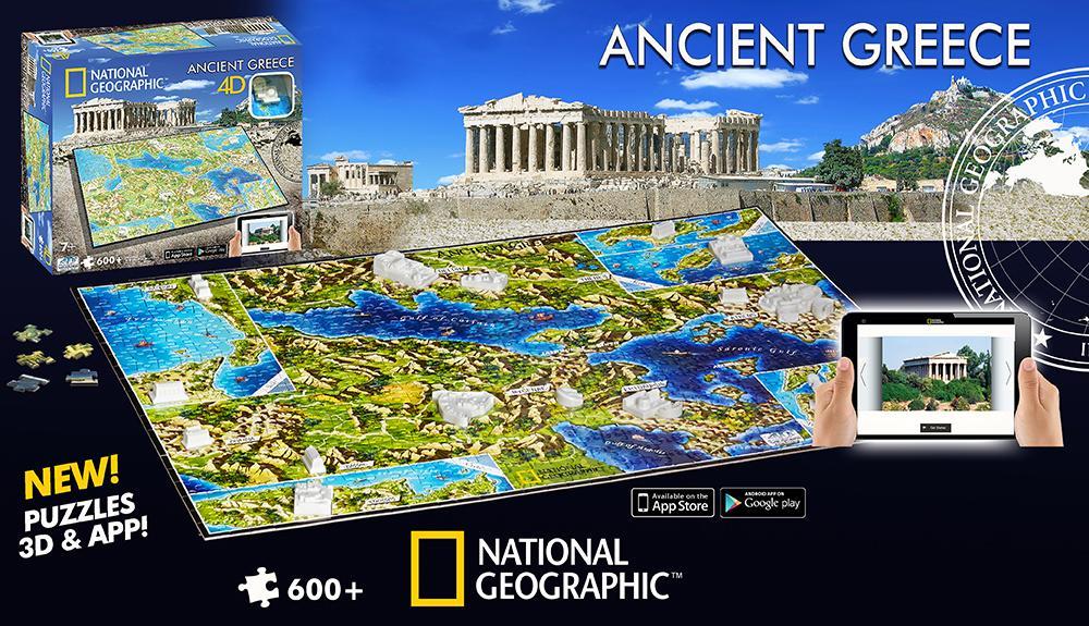 4D Cityscape Inc 4D National Geographic Greece Puzzle Puzzle 61002