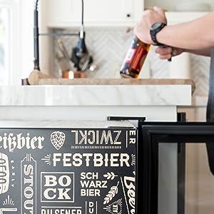 beverage cooler, beer cooler, beer fridge, beer refrigerator