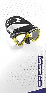 scuba mask, scuba diving mask, snorkeling mask, cressi mask, scuba gear, snorkeling gear,cressi gear