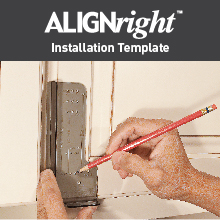 Alighright cabinet hardware template