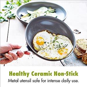 GreenPan, ceramic, nonstick, non-stick, cookware, set, frypan