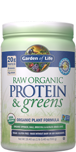 garden of life, protein and greens