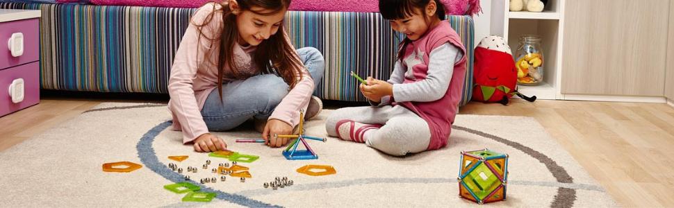 Geomag, Glitter, Magnetic Building Sets, STEM toys, Construction, Learning, Kids, Children