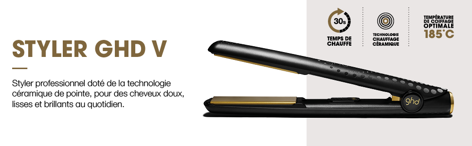 lisseur styler ghd gold cheveux