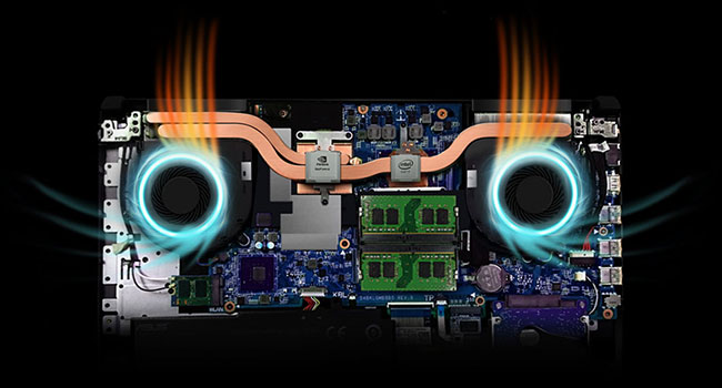 Dual Fans with Anti-Dust Technology