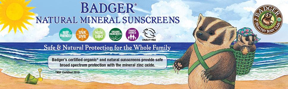 badger natural mineral sunscreens