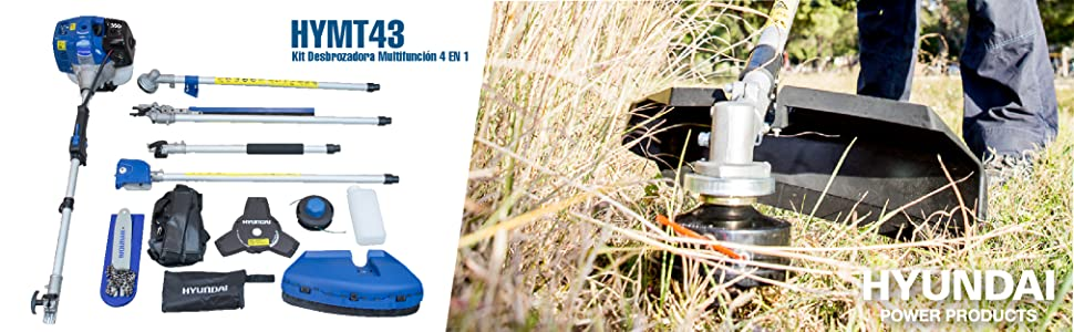 Hyundai HY-HYMT43 Kit Desbrozadora Multifunción 4 EN 1, Potencia ...