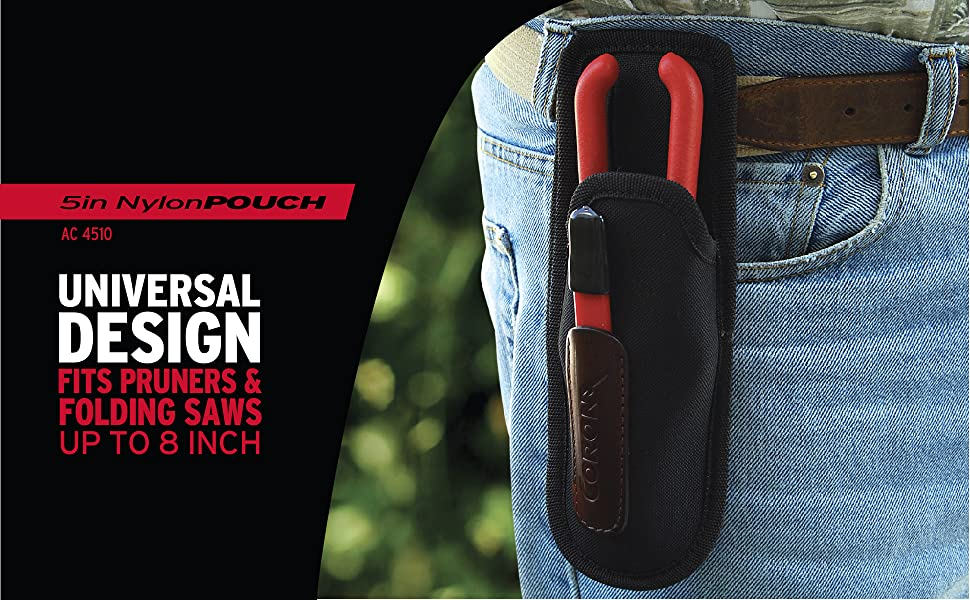 5 inch Nylon Pouch AC 4510 Universal Design Fits Pruners & Folding Saws up to 8 Inches