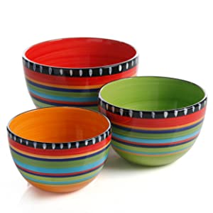 Add-on Collections Gibson Elite Pueblo Springs 3pc Bowl Set  sc 1 st  Amazon.com & Amazon.com | Gibson Elite Pueblo Springs 16-Piece Dinnerware set ...