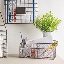 letter storage desktop storage pencil holder desk accessories remote learning chicken wire storage
