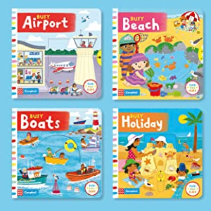Busy Books, Campbell, books for toddlers, flaps, interactive, book, toy, early reading