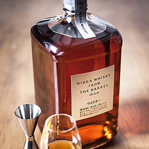 Nikka from the barrel japanese whisky served neat