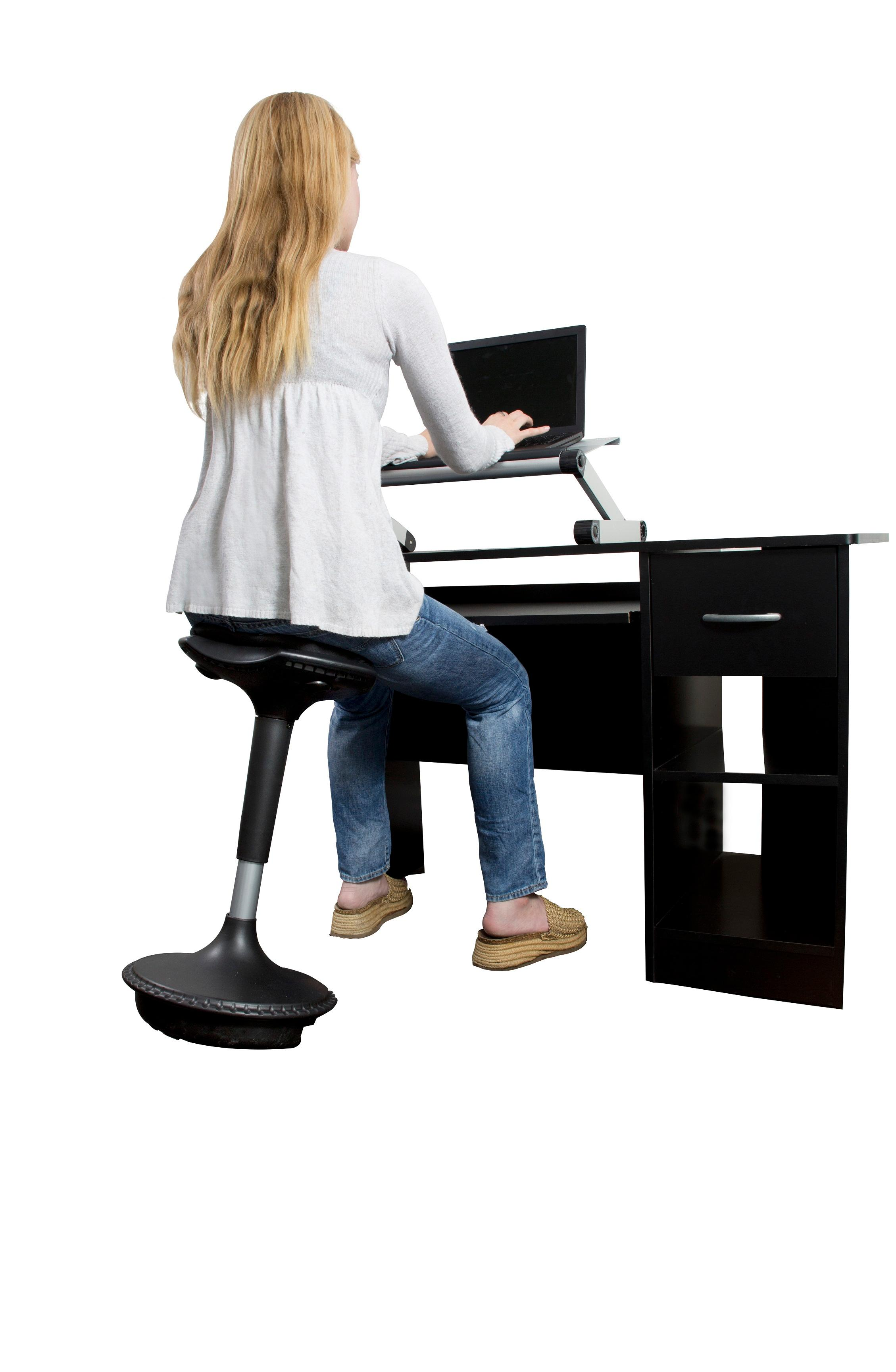 Uncaged ergonomics wobble stool adjustable chair black for Sitting chairs