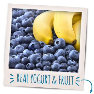 Nourish your little one with the goodness of real yogurt & fruit