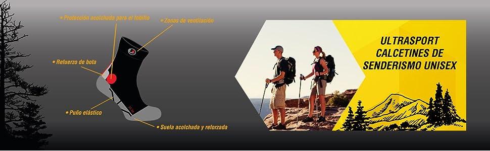 Ultrasport Trekking Calcetines de Senderismo Unisex Adulto