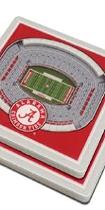 YouTheFan Alabama 3D Logo Coaster
