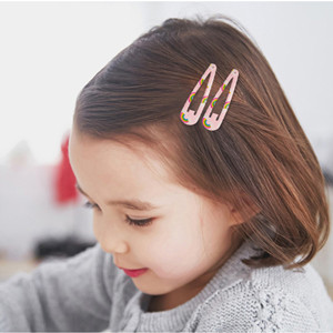 50pcs Baby Girl Hairpins Kids Cute Hair Clips Snaps Hair Accessories Candy Color