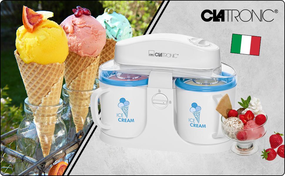 Clatronic ICM 3650 Machine à crème glacée, sorbet, yaourt glacé, glace