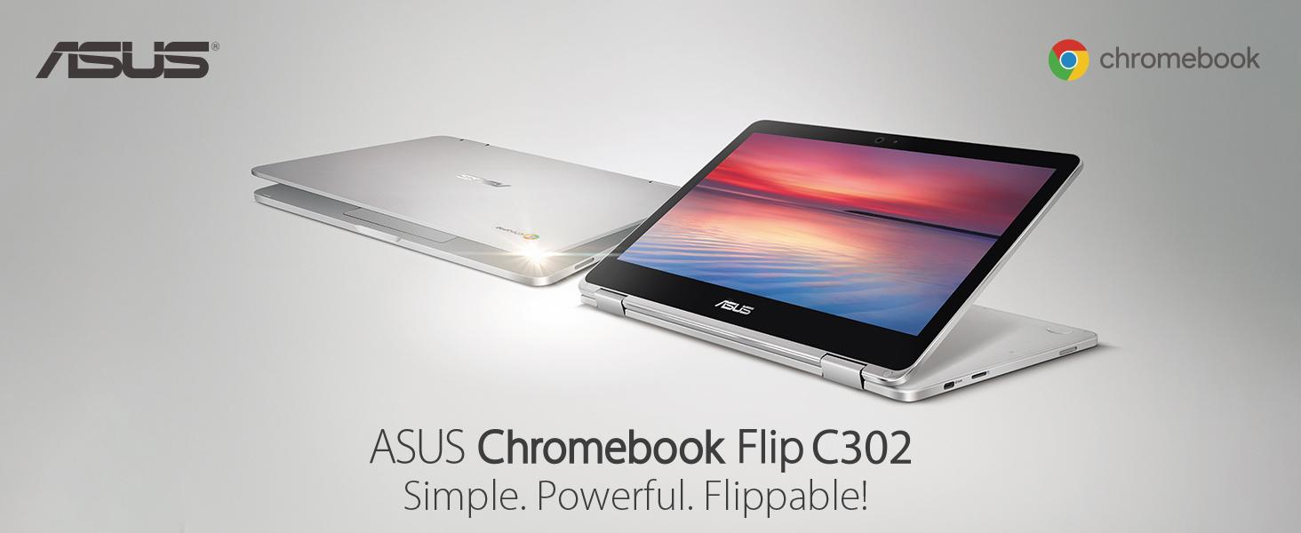 Asus C302CA-DHM4 Chromebook Flip 12 5-Inch Touchscreen Convertible  Chromebook, Intel Core M3, 4GB RAM, 64GB Flash Storage, All-Metal Body, USB  Type C,