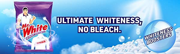 Mr. White detergent has whiteness boosters which keeps the new look of clothes intact