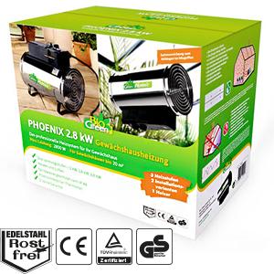 bio green elektrogebl seheizung phoenix silber schwarz ip x4 spritzwassergesch tzt f r. Black Bedroom Furniture Sets. Home Design Ideas
