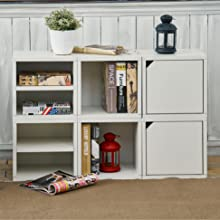 Storage Cube With Shelf Door Stackable Cubes