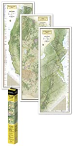National Geographic: Pacific Crest Trail Wall Map in gift box Wall ...